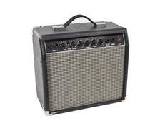 Vintage practice guitar amplifier isolated Stock Photos