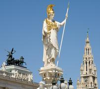Vienna Symbols From Parliament Square - stock photo