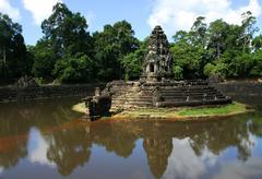 Preah neak pean temple. angcor. siem reap. cambodia Stock Photos