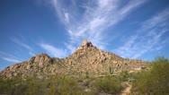 Pinnacle Peak Scottsdale Timelapse Stock Footage