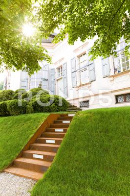 Stock photo of back entrance