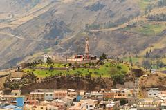 Alausi City Monument In A Bright Sunny Day Small Place In Chimborazo Province - stock photo