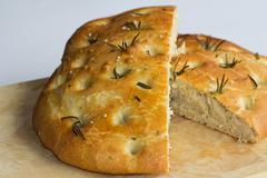 fresh foccacia - stock photo