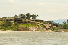 Stock Photo of Amazonian Lodge On Napo River In Ecuador