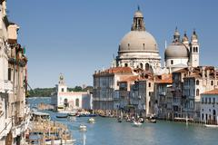 Venice Grand Canal View From Academy Bridge - stock photo