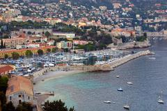 Aerial View Of Sanremo Bay South Of France Stock Photos