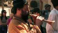 Israeli Celebration in Old City Jerusalem Stock Footage