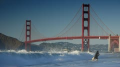 Stock Footage San Francisco Golden Gate Bridge - stock footage