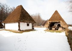 Traditional Farmer Household In Salaj County Romania - stock photo