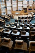 edinburgh parliament - stock photo