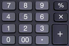 Calculator pad Stock Photos