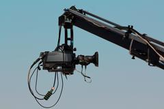 Camera on crane Stock Photos