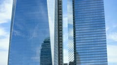 Reflective Image of 1 World Trade Centre, New York, T/lapse - stock footage