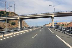 Highway In Southern Spain In A Beautiful Summer Day - stock photo