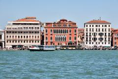 Old Buildings In Venice View From San Maggiore Island - stock photo
