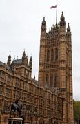 houses of parliament. london. uk - stock photo