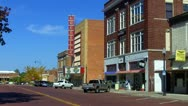 Stock Video Footage of North Bell Avenue In Downtown Shawnee OK 1