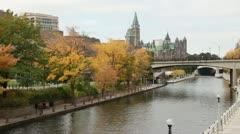 Rideau Canal in Ottawa Stock Footage