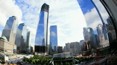 Cloudscape image of 1 World Trade Centre, New York, T/lapse - stock footage