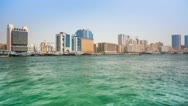 Stock Video Footage of Dubai creek right site 4K Timelapse