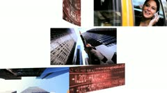 Montage Businesswomen Trading Stock Shares - stock footage