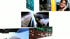 Montage Business People Trading Stock Shares Stock Footage