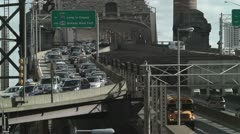 New York City Queensboro Bridge Traffic 2 Stock Footage
