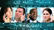 Montage Business People Wireless Technology Stock Footage