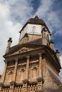 Sundial and carved stone. cambridge. uk. Stock Photos