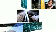 Montage Businesswomen Trading Stock Market  Stock Footage