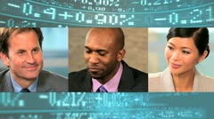 Montage Business People Modern Wireless Communication  Stock Footage