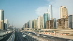 Sheikh Zayed Road other Site Day 4K Timelapse Stock Footage
