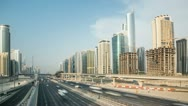 Stock Video Footage of Sheikh Zayed Road other Site Day 4K Timelapse