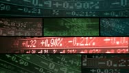 Montage Motion Graphic Stock Market Index Stock Footage