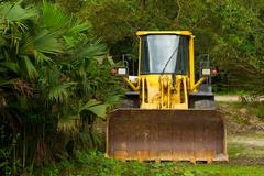Stock Photo of Heavy Bulldozer Used For Deforestation In Ecuadorian Jungle