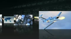 Montage 3D Successful Business People Corporate Transport    Stock Footage