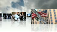 Montage 3D Images Multi Ethnic Business People  Stock Footage