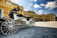 Stock Photo of Schonbrunn Palace Backyard Low Angle View