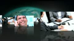 Montage 3D Images Successful Groups Business People Stock Footage