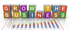3d buzzword text 'grow the business' Stock Illustration