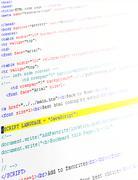 Lähikuva html-koodia Piirros