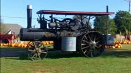 Stock Video Footage of Old Steam Tractor On Display In Tecumseh OK