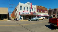 Stock Video Footage of Old Style Movie Theater On Main In Small Town-Shawnee OK