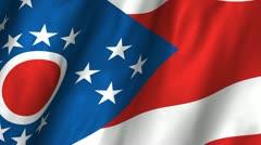 Ohio Waving Flag Stock Footage