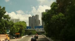 Timelapse of Hong Kong traffic into the tunnel Stock Footage