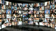 3D Montage Successful Female Business People Stock Footage