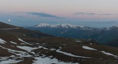Caucasus mountains khevi region. georgia. Stock Photos