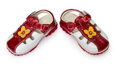 Stock Photo of children's cheap shoes on white
