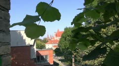 Old Vilnius and st.Anne church towers Stock Footage