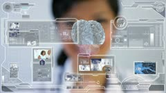 Stock Video Footage of Medical Science Touchscreen Graphic Technology
